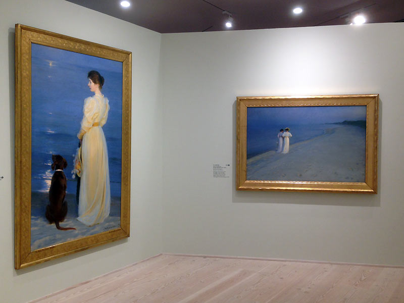 Malerier med damer på Skagens Museum