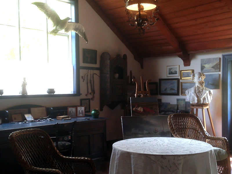 Drachmanns stue i Drachmanns Hus i Skagen