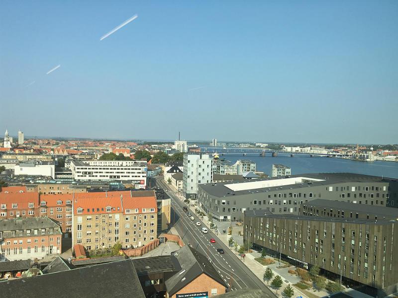 Fantastisk udsigt fra 13. etage på Nordkraft i Aalborg