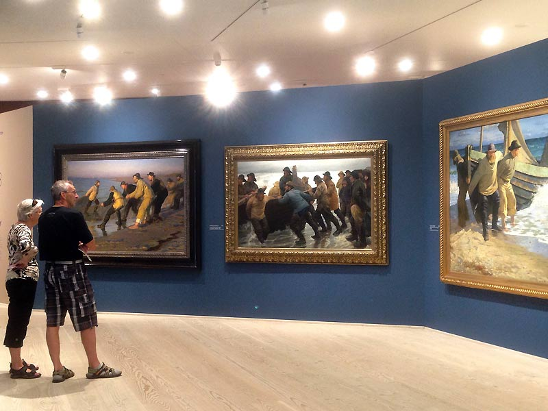 Malerier af fiskere på Skagens Museum