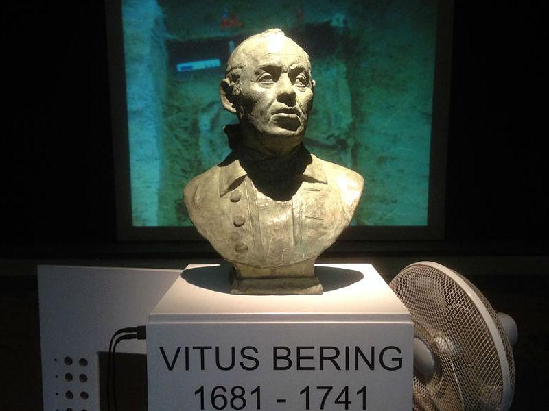 Buste af kommandør og opdagelsesrejsende Vitus Bering på Horsens Museum