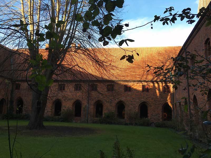 Klostergården i karmeliterklosteret i Helsingør