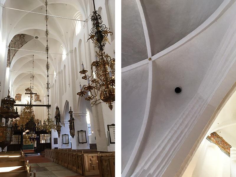 Kanonkugle i Skt. Olai Kirke i Helsingør