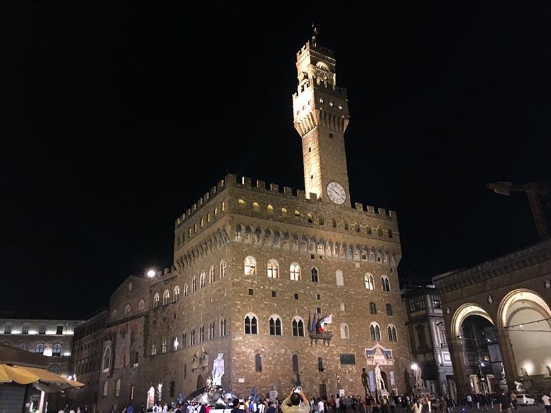 Rådhuset Palazzo Vecchio i Firenze