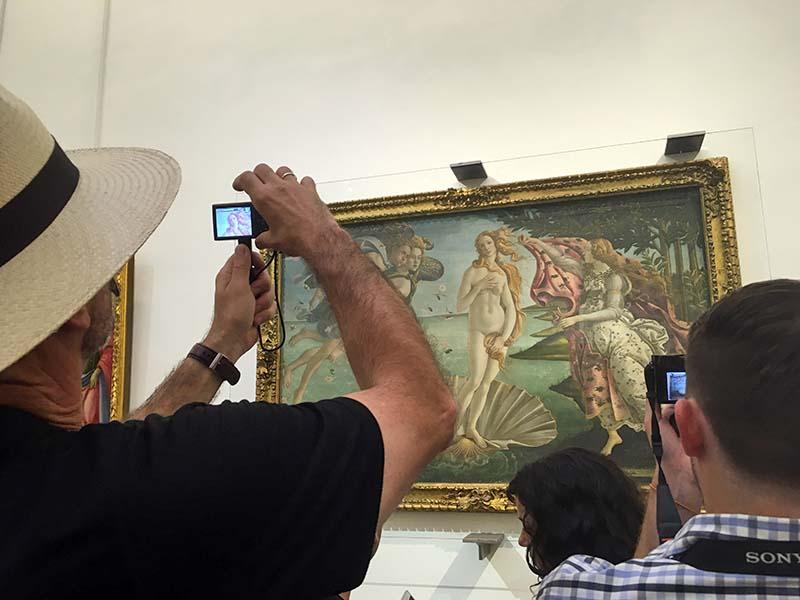 Stor kunst på Uffizierne i Firenze