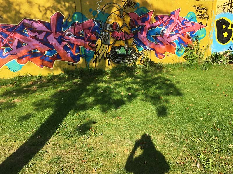 Street art i Karolinelund i Aalborg