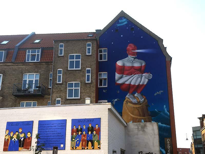Street arten Lighthouse i Holbergsgade i Aalborg