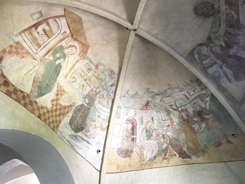 kalkmalerier i Søndersø Kirke