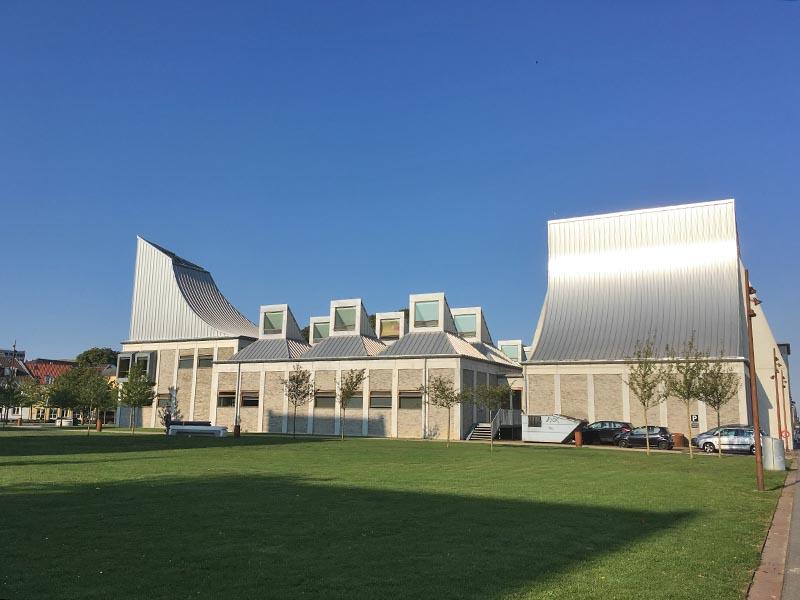 Utzon Center på havnen i Aalborg