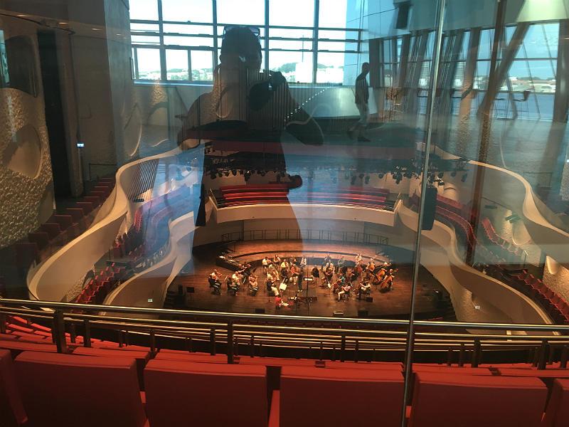 View ind i koncertsalen i Musikkens Hus