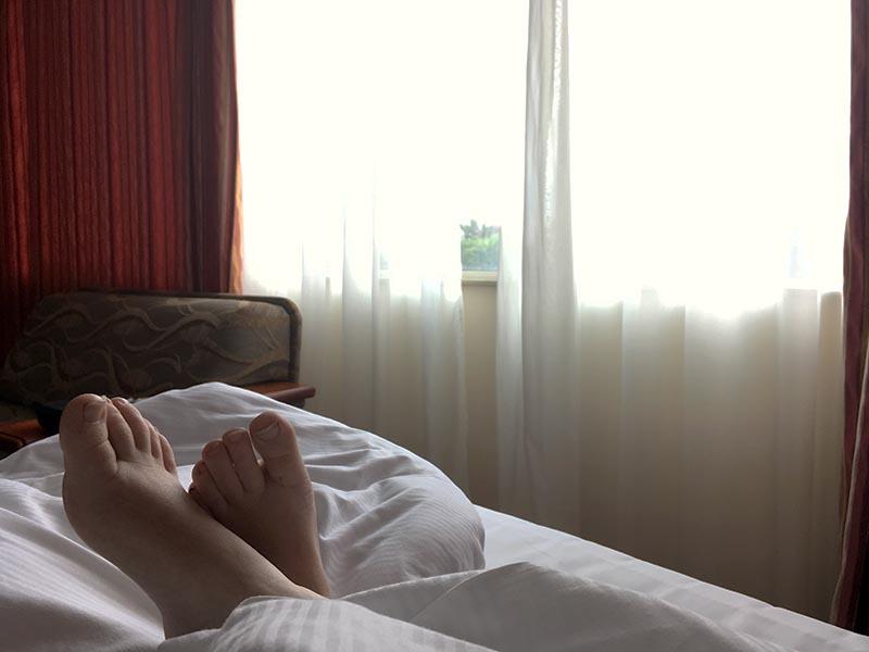 At sove længe er dejligt, hvis man er en sensitiv rejsende
