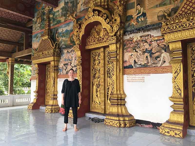 Maria Erica Jensen i Luang Prabang