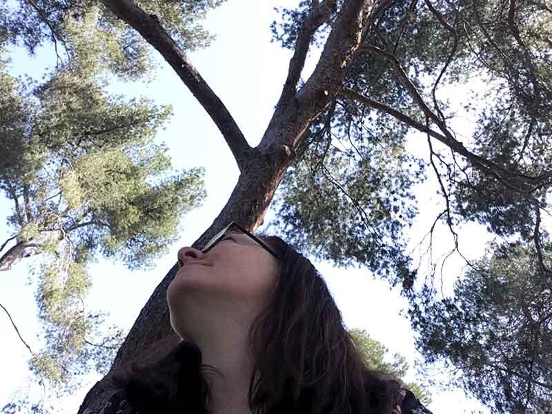 Maria Erica Jensen i park i Madrid