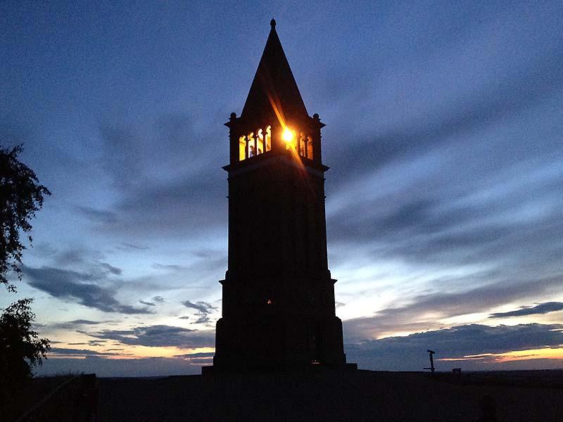 Tårnet på toppen af Himmelbjerget, det måske nok mest kendte af de danske bjerge