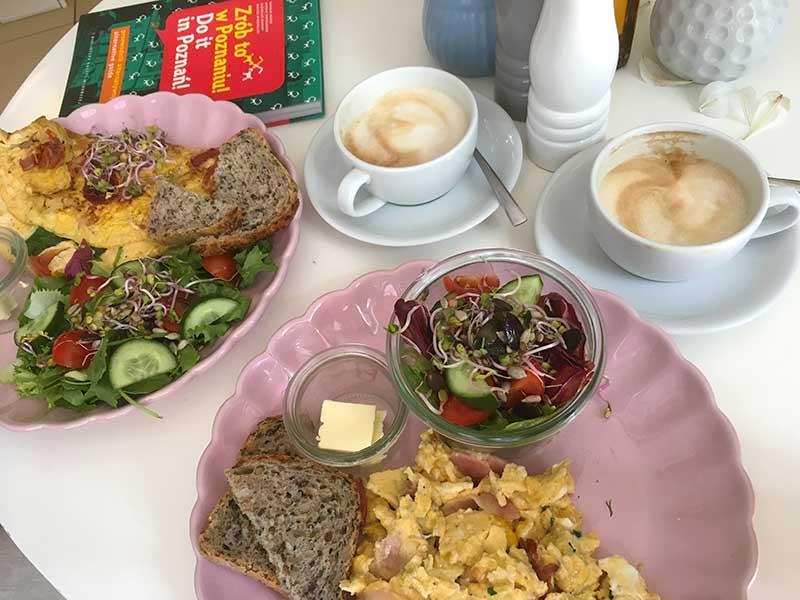 Brunch på Café Jaglana i Poznan