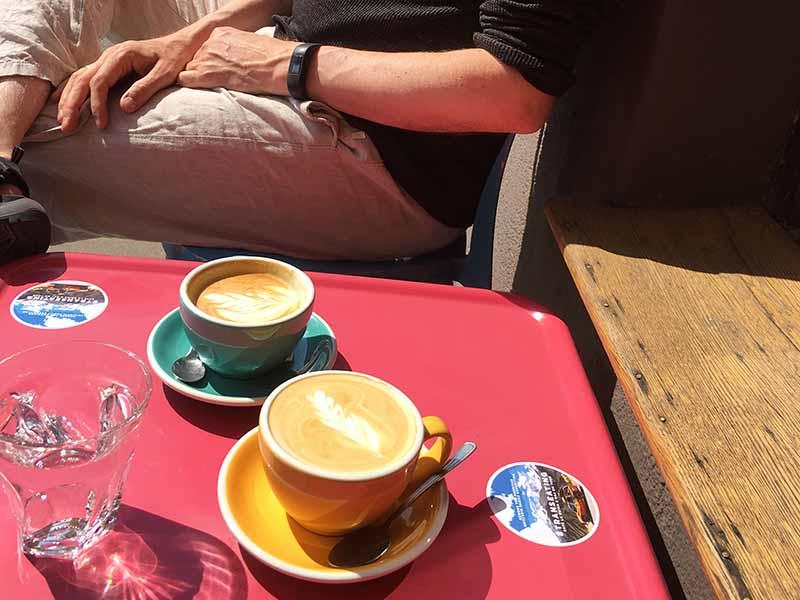 Pause ved Café La Ruina i Raj kaffebaren i Poznan