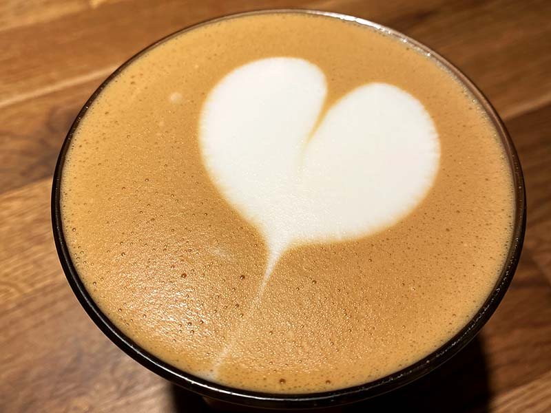 Cortado på kaffebar i København